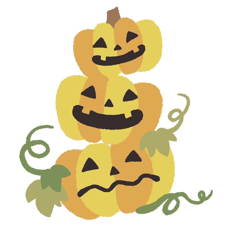 ハロウィンかぼちゃイラストi手書き風