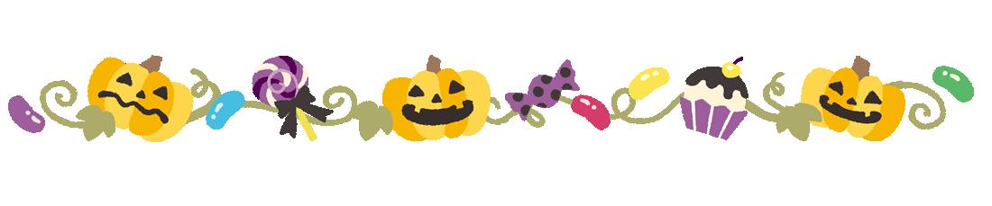 ハロウィン枠・フレームかぼちゃイラスト素材(上用)