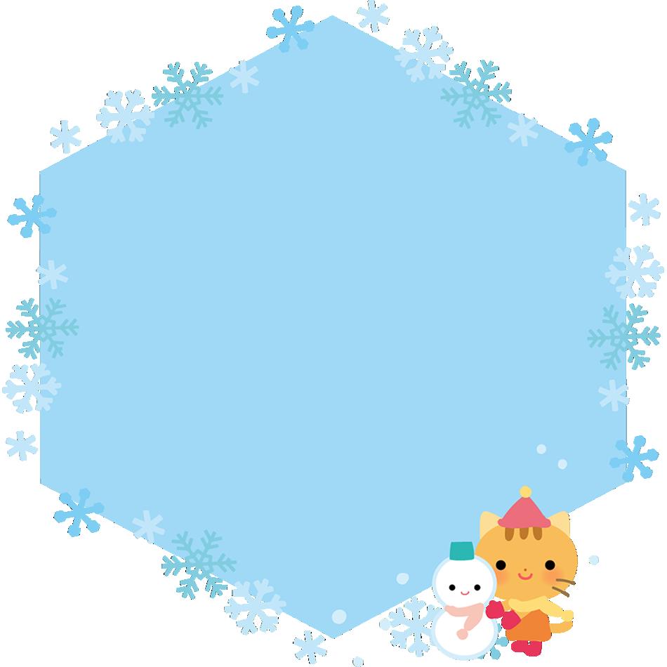 雪の結晶の枠・フレーム素材