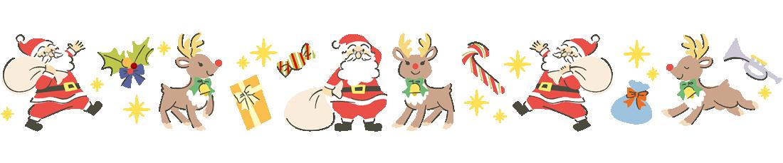 クリスマスデザインでラインフレームイラスト
