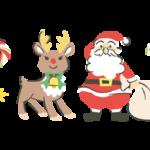 クリスマスデザインのラインフレームイラスト下