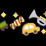 クリスマスデザインラインフレームイラスト下