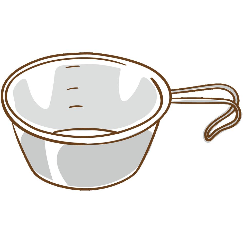 シェラカップのイラスト
