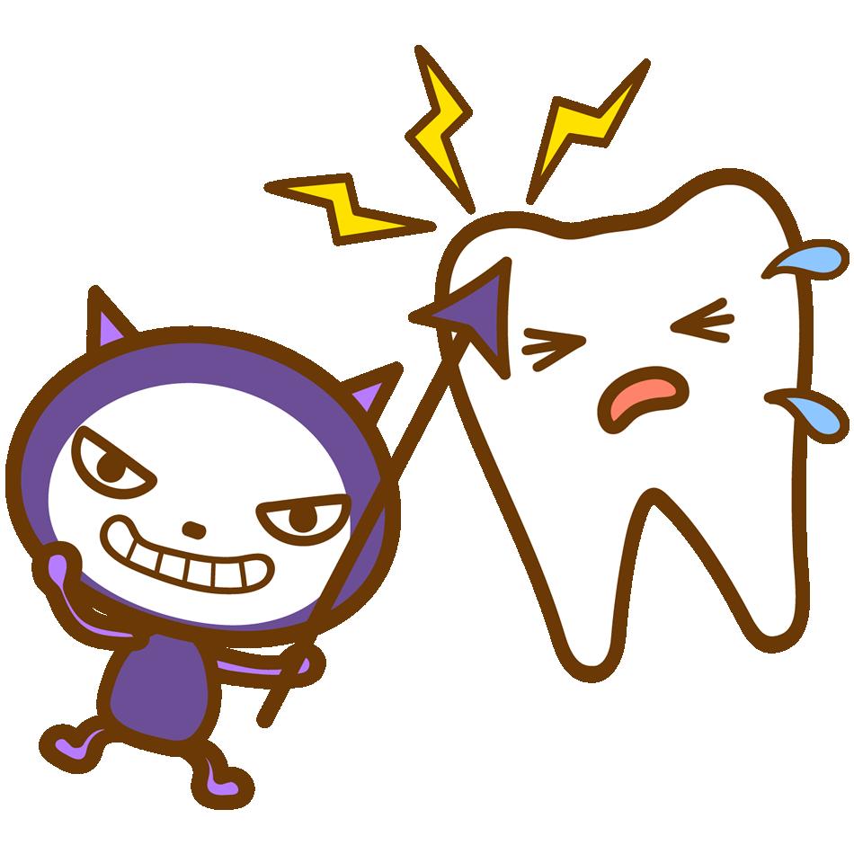 虫歯菌のイラスト