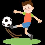 サッカーをしている男の子のイラスト
