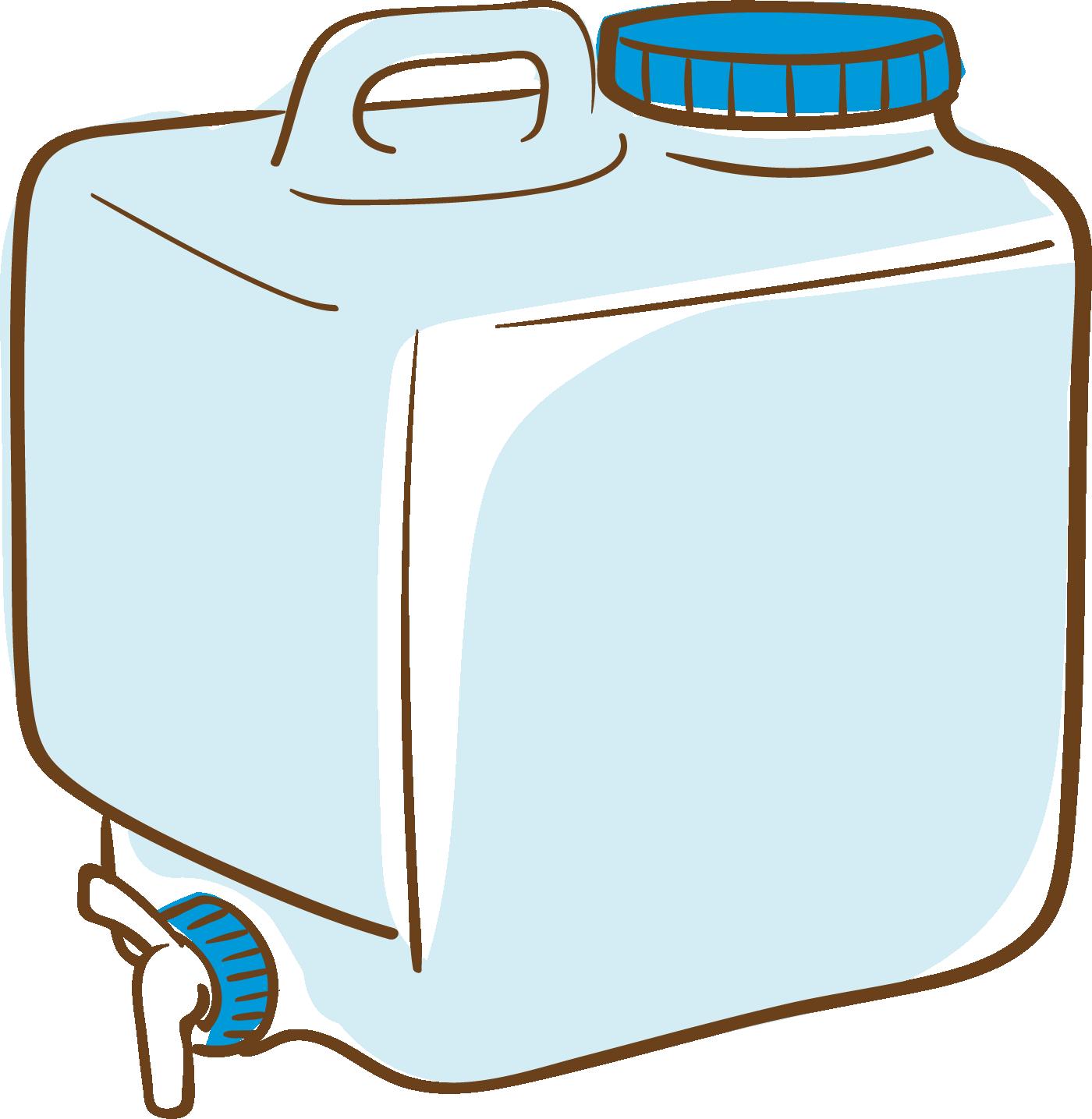 ウォータータンクのイラスト(背景透過)