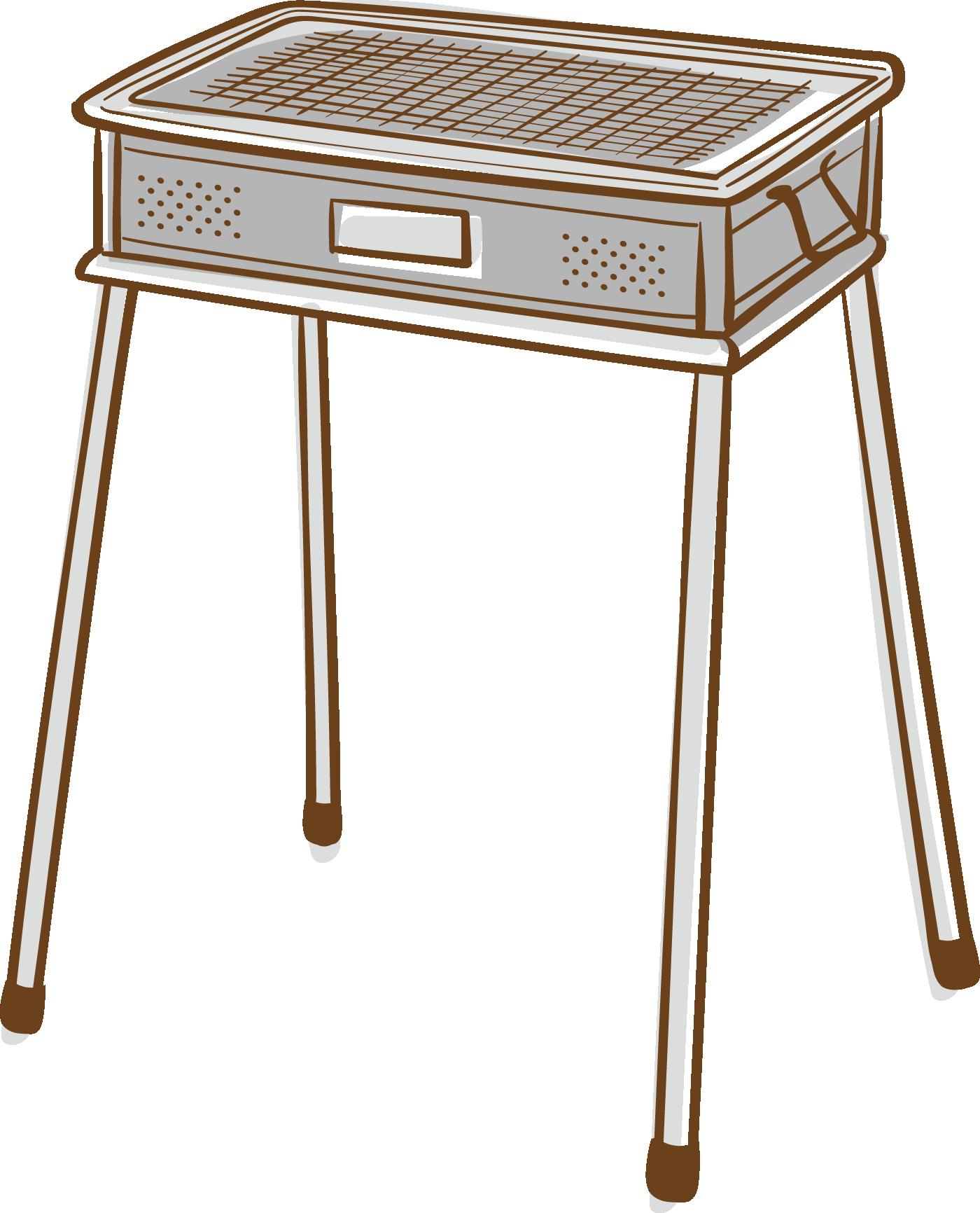 バーベキューグリルのイラスト(背景透過)