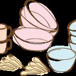 食器のイラスト(背景透過)