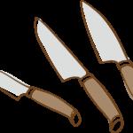 ナイフのイラスト(背景透過)