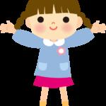 かわいい幼稚園児(保育園児)イラスト(女の子)