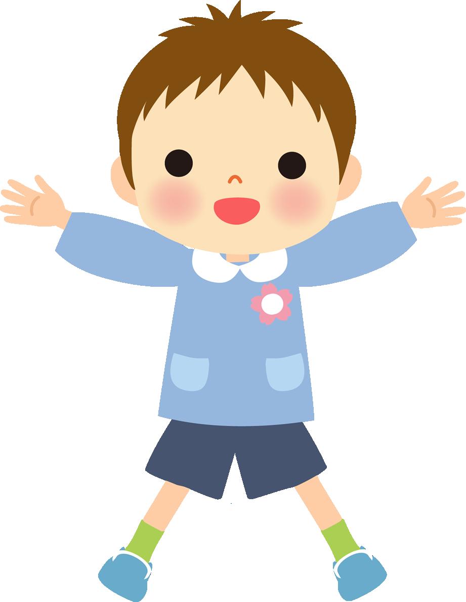 かわいい幼稚園児(保育園児)イラスト(男の子)
