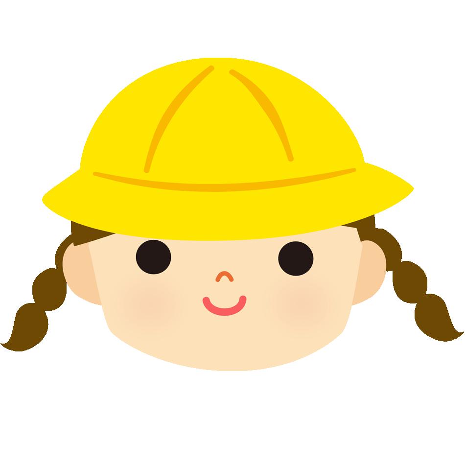 保育園児・幼稚園児のイラスト(三つ編みの女の子)