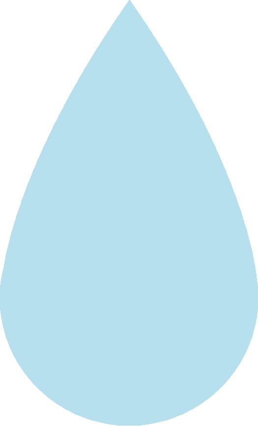 水滴のイラスト(薄い水色)