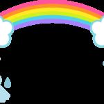 6月園だよりや(虹、てるてる坊主)枠・フレームイラスト