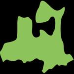 青森県の地図イラスト