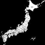 日本地図のイラスト(都道府県名記載)