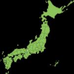 シンプルな日本地図のイラスト(地名記載無し)