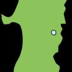 秋田県の地図イラスト(カラー)