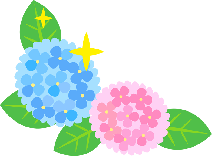 左下用のコーナーフレーム(紫陽花)
