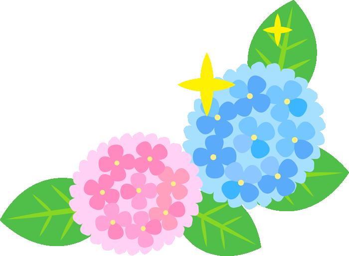 右下用のコーナーフレーム(紫陽花)