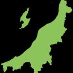 新潟県の地図イラスト(カラー)