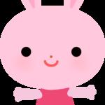 【動物】かわいいウサギのイラスト
