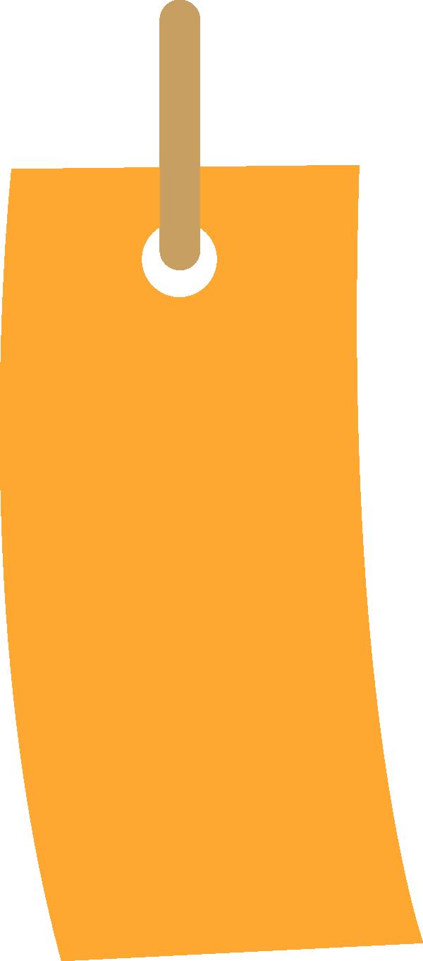 短冊のイラスト(オレンジ)