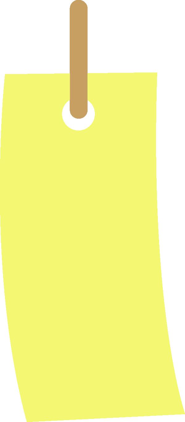 短冊のイラスト(黄色)