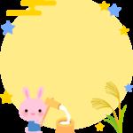 お月見の枠・フレームイラスト(9月)
