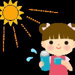 水分補給を促す子供のイラスト