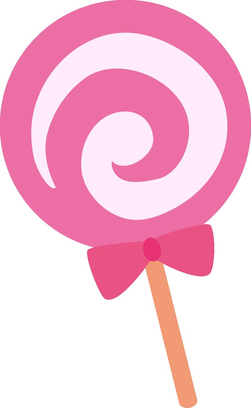 棒つきキャンディーイラスト(パープル)