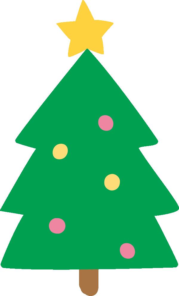かわいいクリスマスツリーのイラスト