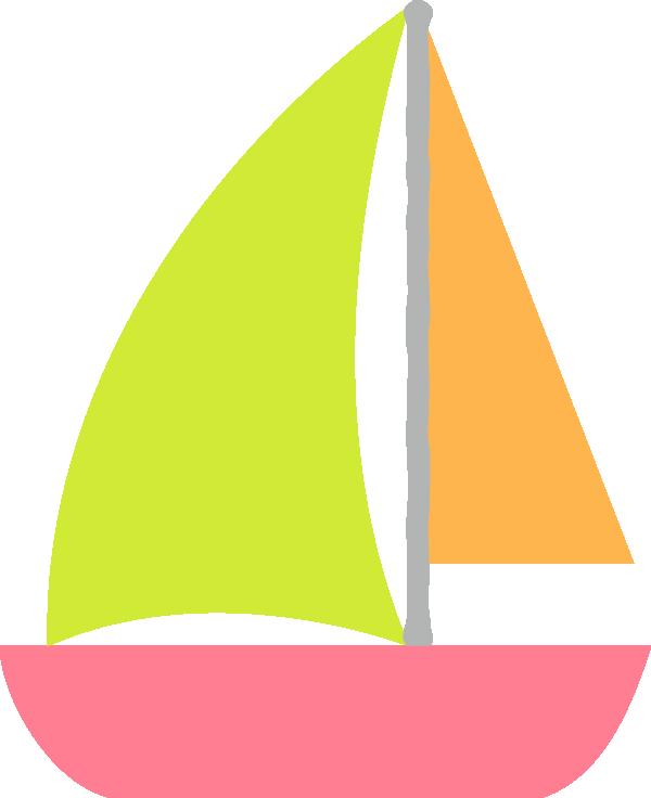 かわいいヨットのイラスト