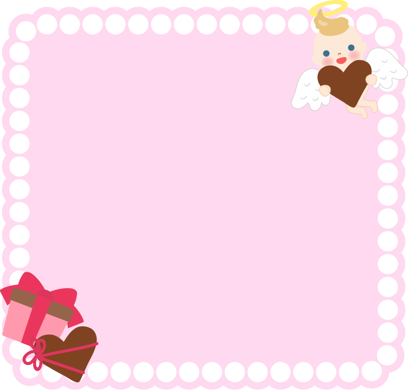 バレンタインデーの囲み枠・フレームイラスト
