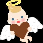 天使のイラスト(バレンタインデー)