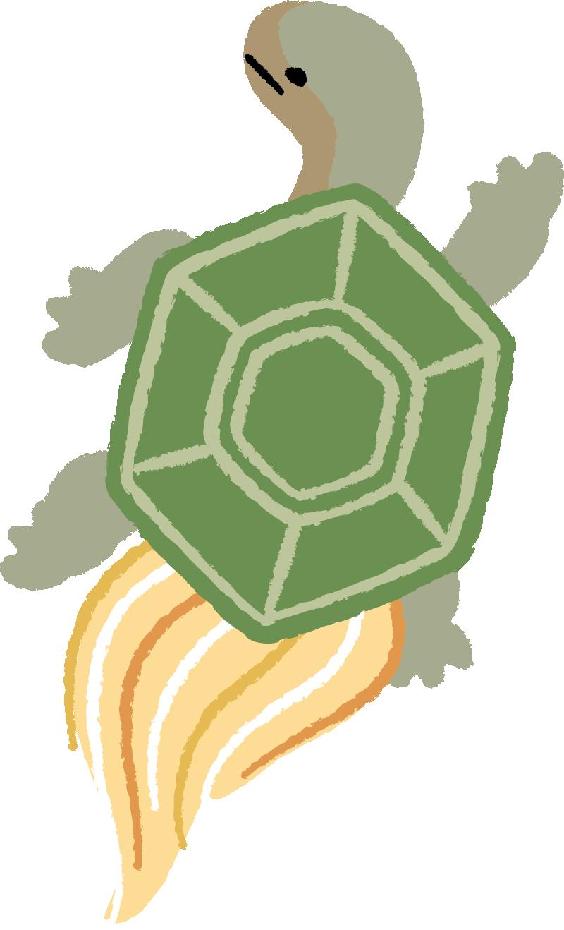 和柄風の亀イラスト