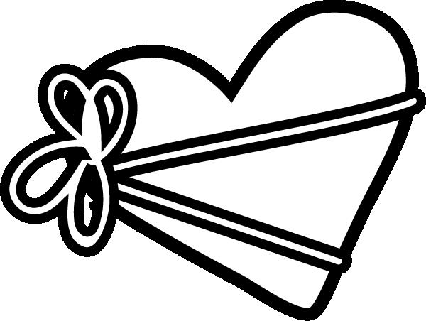 白黒のバレンタインデーイラスト