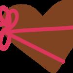 ハート型のバレンタインデーイラスト