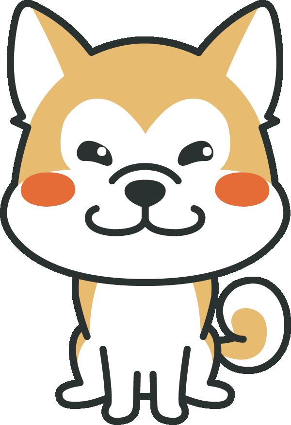 犬のイラスト(秋田犬)