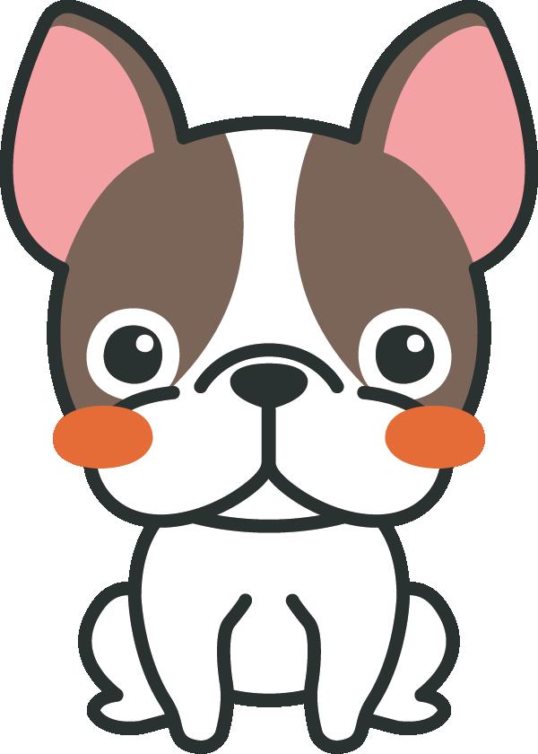 犬のイラスト(フレンチ・ブルドッグ)