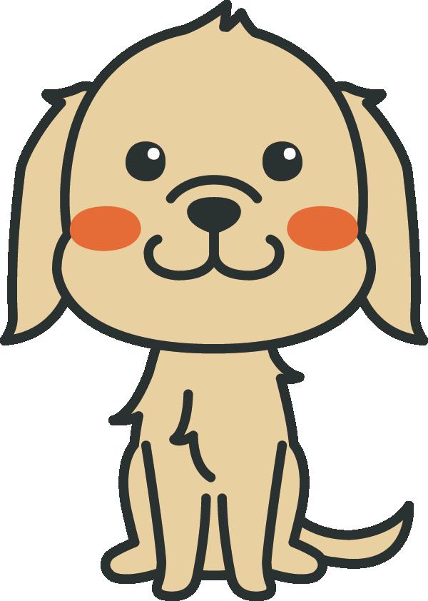 犬のイラスト(ゴールデン・レトリバー)