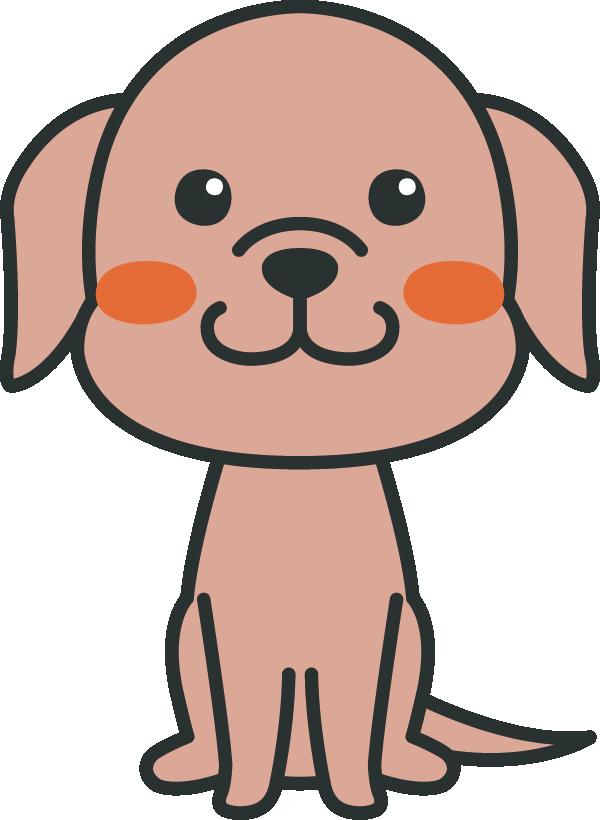 犬のイラスト(ラブラドール・レトリバー)