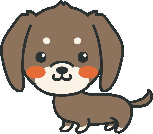 犬のイラスト(ミニチュアダックスフンド)
