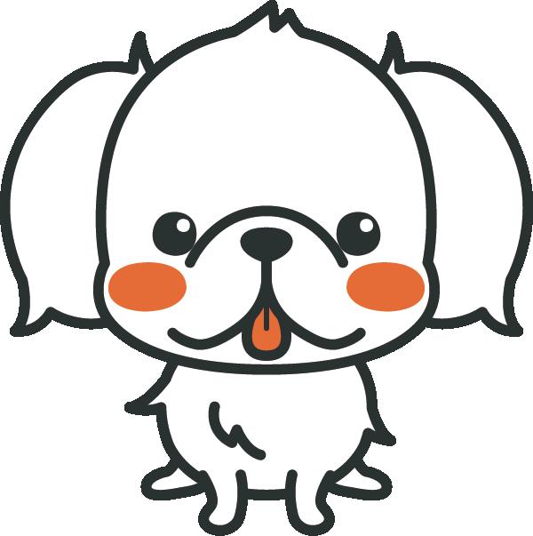 犬のイラスト(ペキニーズ)