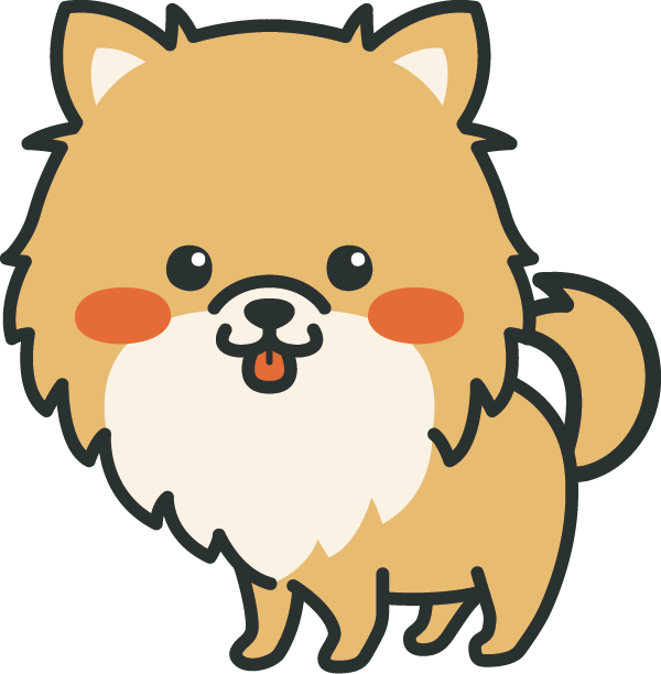 犬のイラスト(ポメラニアン)