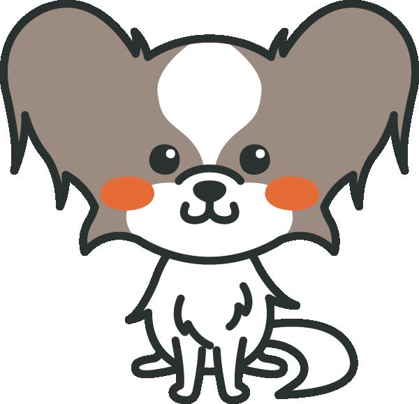 犬のイラスト(パピヨン)