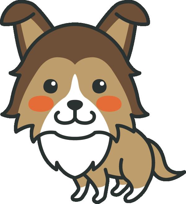 犬のイラスト(シェルティー)