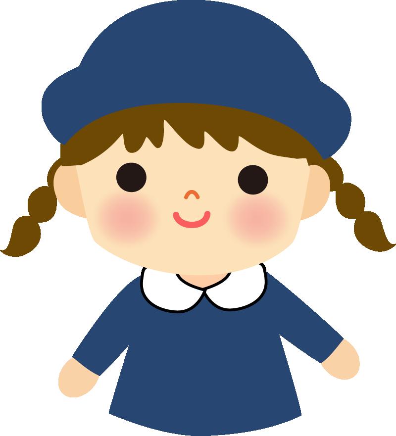 園児のイラスト(女の子)