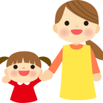 保育士さんと子供のイラスト
