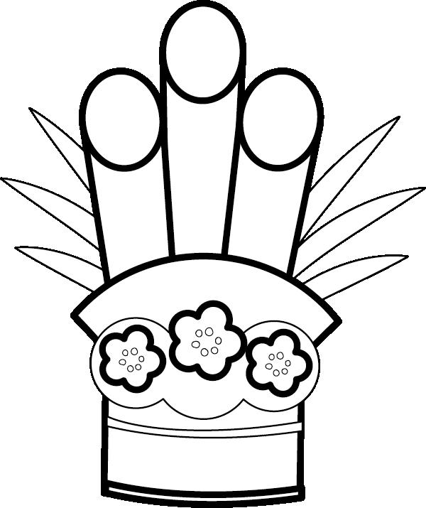 白黒の門松のイラスト